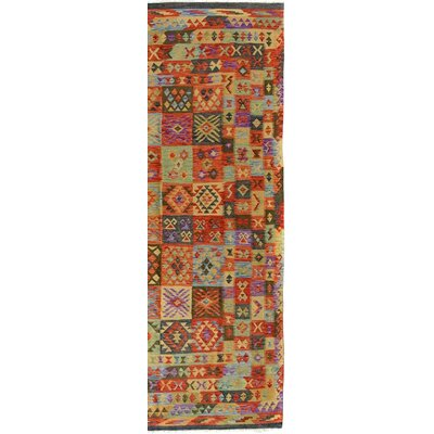 Bakerstown Hand-Woven Rectangle Wool Gray/Rust Area Rug