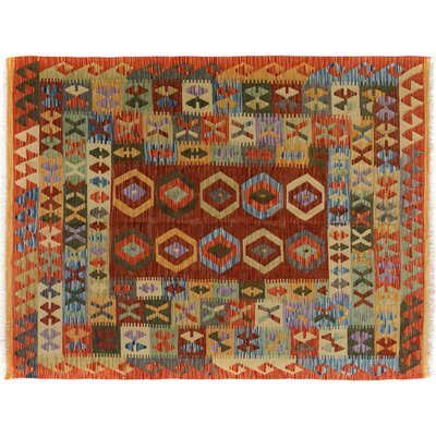Bakerstown Hand-Woven Rectangle Wool Gold/Brown Area Rug