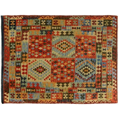 Bakerstown Hand-Woven Wool Brown/Red Area Rug