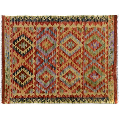 Bakerstown Hand-Woven Wool Gold/Brown Area Rug