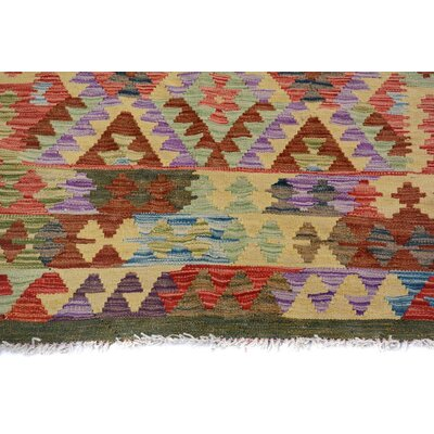 Bakerstown Hand-Woven Wool Green/Gray Area Rug