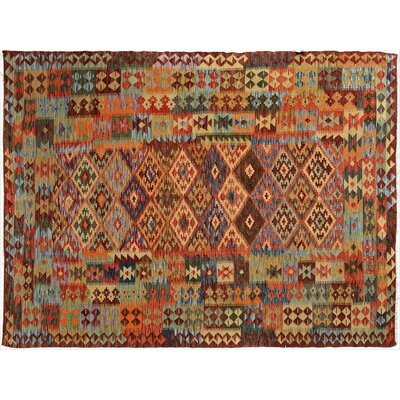 Bakerstown Hand-Woven Wool Red Area Rug