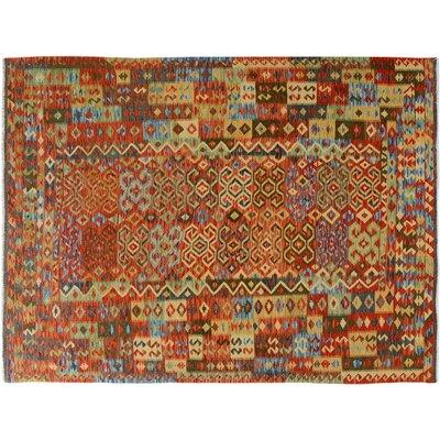 Bakerstown Hand-Woven Wool Gray/Blue Oriental Area Rug