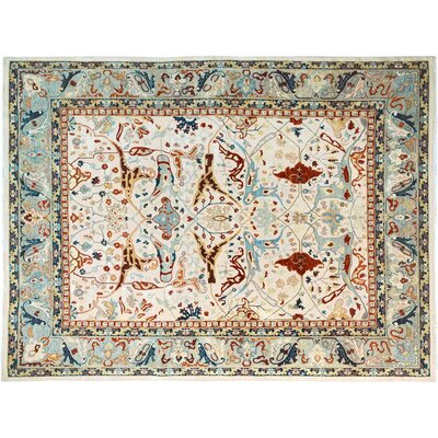 Xenos Hand-Knotted Wool Gray Area Rug
