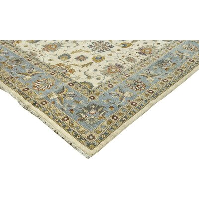 Xenos Hand-Knotted Rectangle Wool Gold/Blue Area Rug