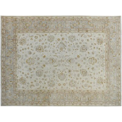 Xenos Hand-Knotted Wool Gold/Gray Area Rug