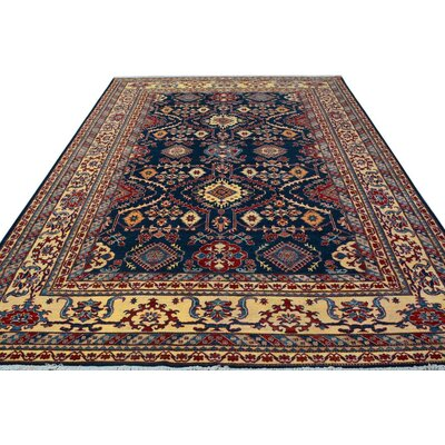Baldwin Park Hand-Knotted Wool Blue/Gold Area Rug