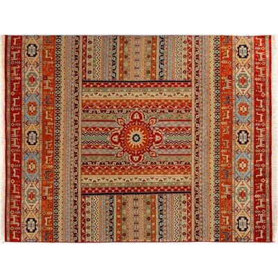 Baldwin Park Hand-Knotted Wool Rust/Tan Area Rug