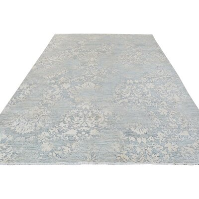Adalrik Hand-Knotted Wool Gray Area Rug