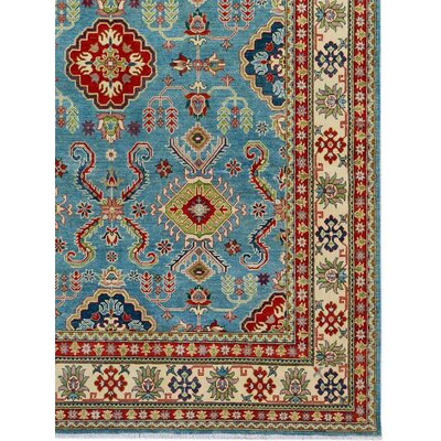 Baldwin Park Hand-Knotted Wool Blue/Ivory Oriental Area Rug