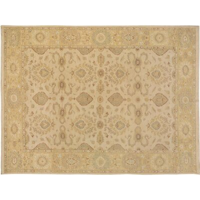 Xenos Hand-Knotted Wool Ivory/Gold Area Rug