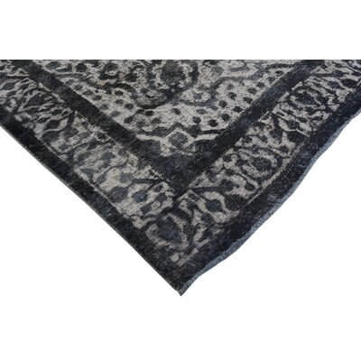 Badillo Hand-Knotted Rectangle Wool Gray Oriental Area Rug