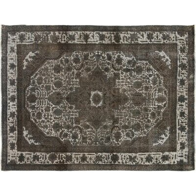 Badillo Hand-Knotted Wool Gray Area Rug