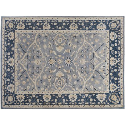 Xenos Hand-Knotted Wool Gray/Blue Area Rug