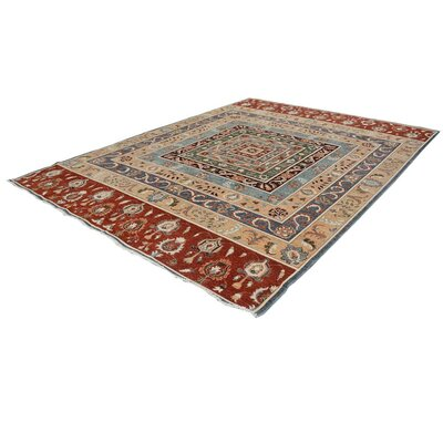 Badham Hand-Knotted Wool Rust/Tan Area Rug