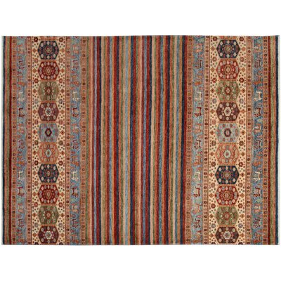 Baldwin Park Hand-Knotted Wool Red/Rust Area Rug