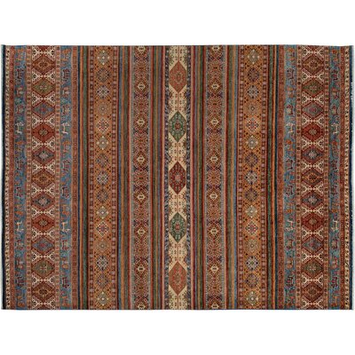 Baldwin Park Hand-Knotted Wool Rust/Gold Area Rug