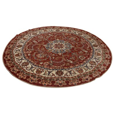 Baldwin Park Hand-Knotted Wool Red/Ivory Area Rug
