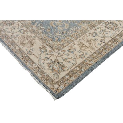 Xenos Hand-Knotted Wool Gray/Ivory Indoor Area Rug