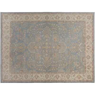 Xenos Hand-Knotted Rectangle Wool Gray/Ivory Indoor Area Rug