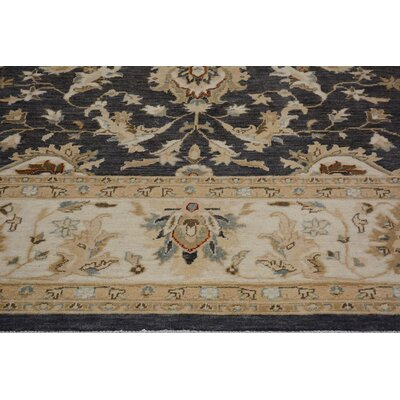 Xenos Transitional Hand-Knotted Wool Gray/Ivory Indoor Area Rug