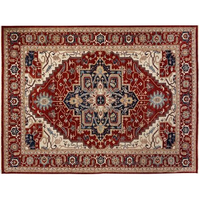 Bear River Hand-Knotted Wool Blue/Red Area Rug