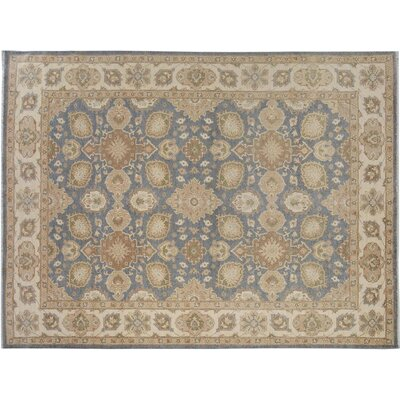 Xenos Oriental Hand-Knotted Wool Gray/Ivory Indoor Area Rug