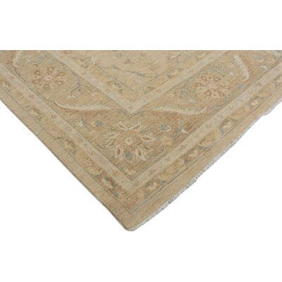 Badham Hand-Knotted Wool Tan/Light Gold Area Rug
