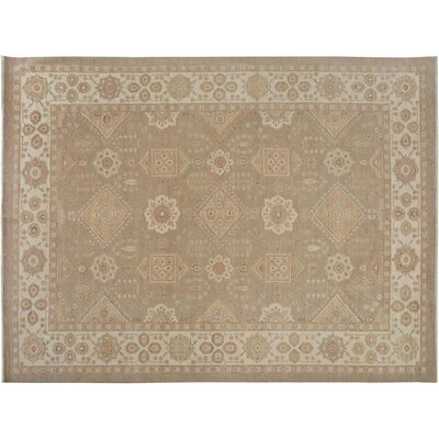 Xenos Transitional Hand-Knotted Wool Tan/Ivory Area Rug