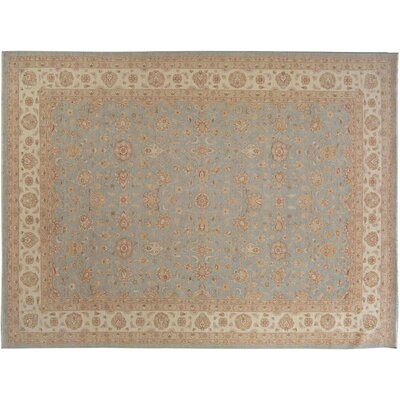 Xenos Traditional Hand-Knotted Wool Blue/Ivory Area Rug