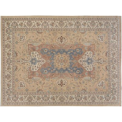 Xenos Hand-Knotted Rectangle Wool Tan/Ivory Area Rug