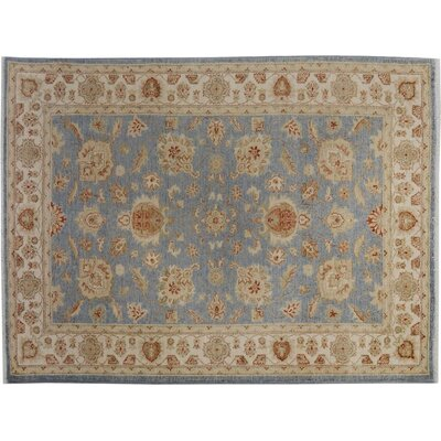 Xenos Oriental Hand-Knotted Wool Blue/Ivory Area Rug