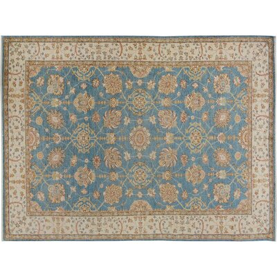 Xenos Hand-Knotted Wool Blue/Ivory Indoor Area Rug