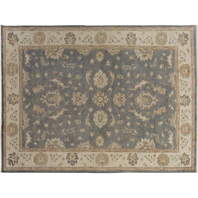 Xenos Hand-Knotted Wool Gray/Ivory Area Rug