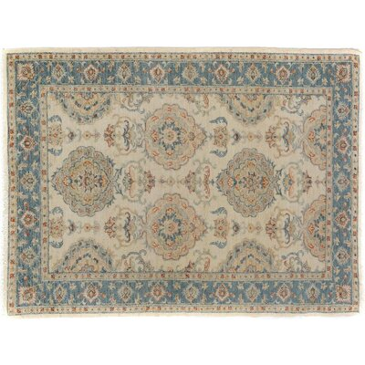 Xenos Hand-Knotted Rectangle Wool Ivory/Gray Area Rug