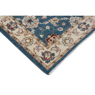 Xenos Hand-Knotted Wool Blue/Ivory Area Rug