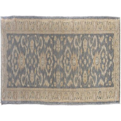 Badham Hand-Knotted Wool Gray/Tan Area Rug