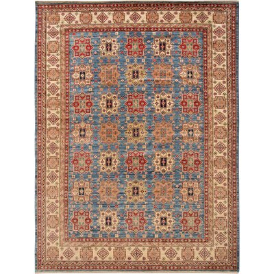 Baldwin Park Hand-Knotted Wool Blue/Light Gold Area Rug