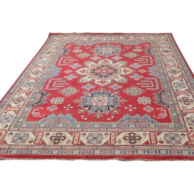 Baldwin Park Hand-Knotted Wool Red/Light Tan Area Rug
