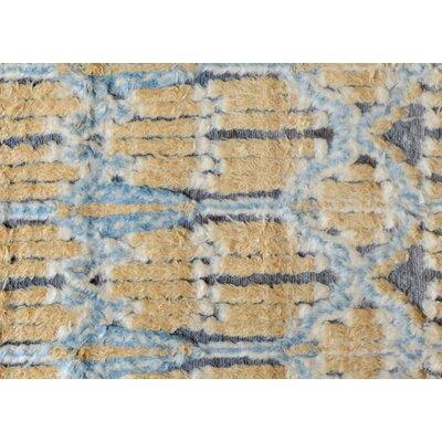 Kimberlee Moroccan Hand-Woven Wool Blue/Ivory Area Rug