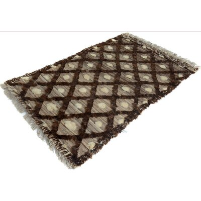 Kimberlee Moroccan Hand-Knotted Wool Tan/Brown Area Rug
