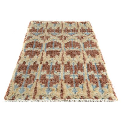 Kimberlee Moroccan Hand-Knotted Wool Brown/Beige Area Rug