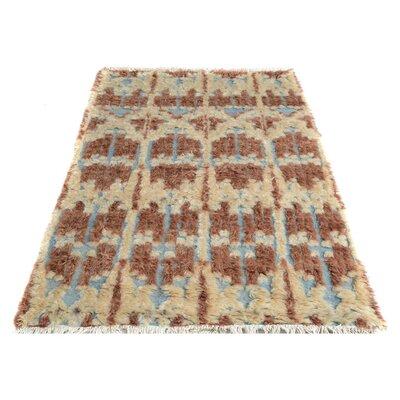 Kimberlee Moroccan Hand-Knotted Wool Brown/Beige Area Rug