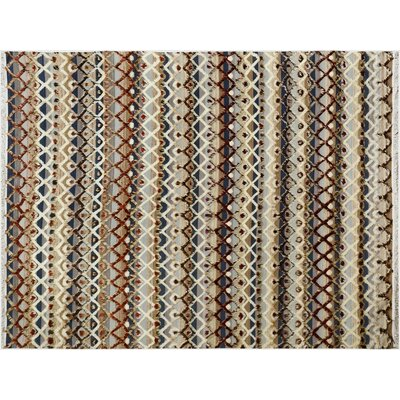 Kimberlee Moroccan Hand-Knotted Wool Gray/Ivory Area Rug