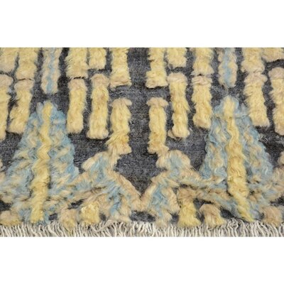 One-of-a-Kind Kimberlee Moroccan Hand-Knotted Wool Brown/Blue Area Rug