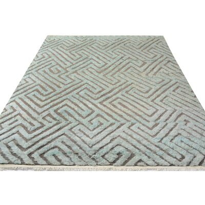 One-of-a-Kind Kimberlee Moroccan Hand-Knotted Wool Gray/Brown Area Rug