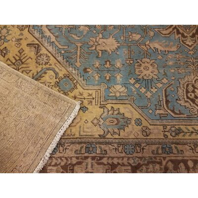 Belfield Hand-Knotted Rectangle Wool Blue/Brown Indoor Area Rug