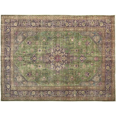 Belfield Hand-Knotted Wool Green/Purple Indoor Area Rug