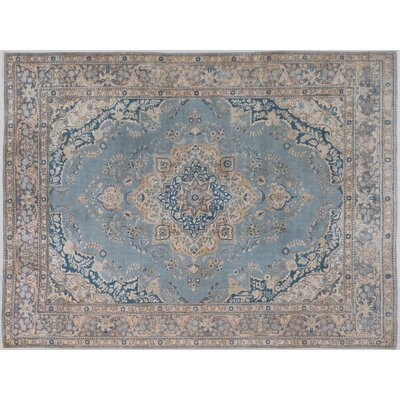 Belfield Hand-Knotted Wool Blue/Gray Indoor Area Rug