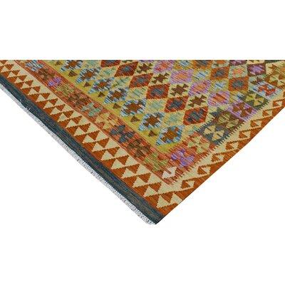 Rosalina Handmade-Kilim Wool Rust/Purple Area Rug
